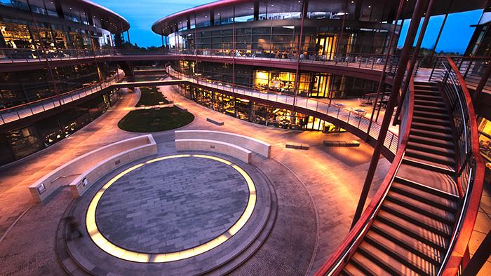 Clark Center atrium